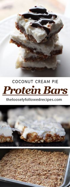 Coconut cream pie protein bars- I ate the whole batch in a matter of 2 days! And with how healthy they are I hardly even feel bad about it!