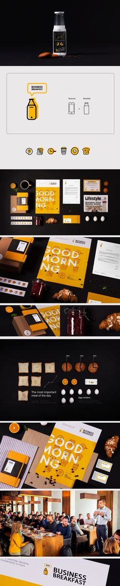 Business breakfast re-branding on Behance