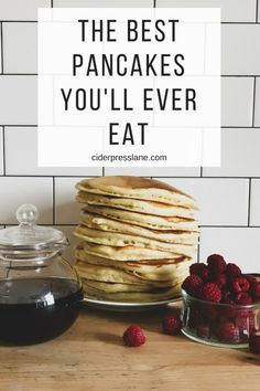 The Best Pancakes You'll Ever Eat #saturdaymorningpancakes #simplepancakerecipe #bestpancakerecipe #kidsbreakfast #saturdaybreakfast #easyrecipes #fluffypancakes #pancakesecretrecipe #familyrecipe