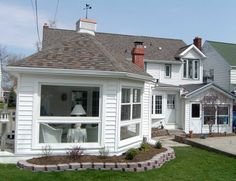 Adding on to a home can be easy and natural looking Home Additions, Home Remodeling, New Homes, Houses, Windows, Natural, Building, Easy, Outdoor Decor