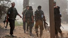 Fighters from Jabhat Fateh al Sham --  formerly the al Nusra Front -- advance…