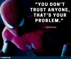 Best 35 Inspirational Spiderman Quotes On Success Spiderman Spider, Amazing Spiderman, Spider Man Quotes, Fandom Quotes, Action Comics 1, Love Store, My Wish For You, Dont Trust, Do What Is Right
