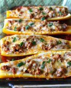 Taco-Stuffed Summer Squash Boats