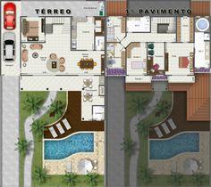 Plantas Humanizadas Sims Ideas, Decoration, Planes, Sweet Home, Villa, New Homes, Floor Plans, Flooring, How To Plan