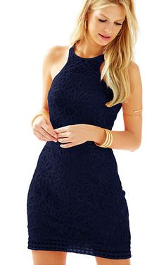 The Jamie knit lace shift dress is a crochet knit with a cut in neckline. It's flattering neckline gives it a wink of sexy while still being classy and fun. Sorority Dresses, Resort Dresses, Dress Lilly, Summer Dresses For Women, Dress Me Up, Knit Lace, Knit Crochet, Knit Dress, Dress To Impress