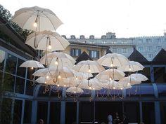 floating umbrella lights!