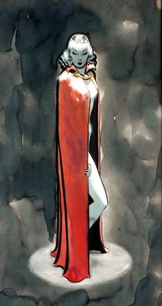 Original Dragon Lady painting by Milton Caniff, 1939.