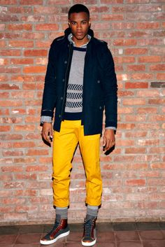 mens fashion, yellow