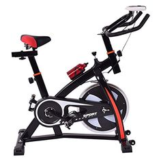 Goplus Indoor Cycle Trainer Fitness Bicycle Stationary Exercise Bike Adjustable Gym Workout Fitness Home -- More info could be found at the image url.