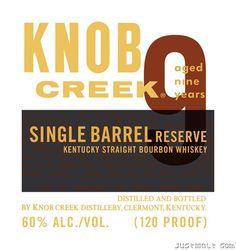 Jim Beam - Knob Creek 9-Year Single Barrel Reserve, Small Batch Rye Whiskey, Kentucky Straight Bourbon Whiskey