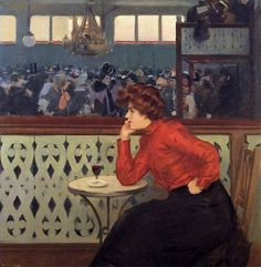 Ramon Casas i Carbó (1866-1932)-'bal au moulin de la Galette - this very much reminds me of Lautrec and Manet.