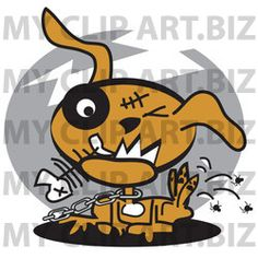Zombie Dog Clip Art http://www.myclipart.biz/illustration/15913/zombie_dog_chewing_on_a_fishbone_and_itching_fleas_off_of_his_back