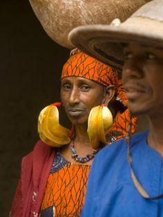 Big fulani tribe earrings