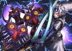 The Legend of Zelda: Majora's Mask / Fierce Deity Link, Majora's Mask, Majora's Incarnation, and Majora's Wrath / 「鬼ごっこ」/「HYTY」のイラスト [pixiv]