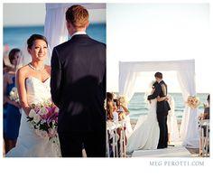 Beach Wedding Ceremony at The Sunset Restaurant - Malibu, California - Photography: www.Jasmine-Star.com