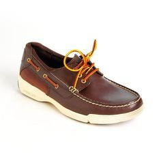 POLO RALPH LAUREN Carrick Leather Boat Shoes ($99) ❤ liked on Polyvore