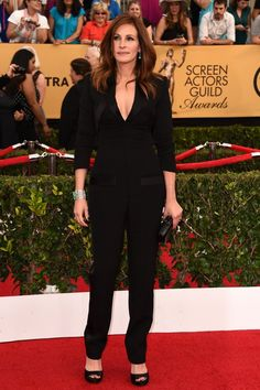 Julia Roberts Is Wearing Givenchy at the 2015 SAG Awards - A jumpsuit that looked much better on tv than in this picture. Don't disregard a  well tailored jumpsuit as an option