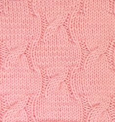 Petals is an allover cable pattern that would work great for your next pullover...cables, but not too many.  This knitting stitch is found in the Cables & Twisted Stitches category.