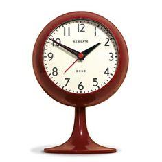 Newgate Clocks - Dome Alarm Clock - Red