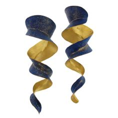 Michael Good Rolled Torque earrings, bronze fused with 22k gold, $1900 #jewelry