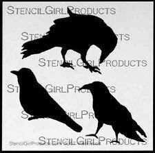 Stencil Girl - 6inx6in - Three Crows