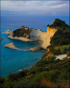 A breath-taking natural formation: Peroulades beach #Corfu #Greece