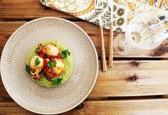 Cozinhadaduxa: Choquinhos em Cama de Puré de Favas Tacos, Mexican, Fish, Ethnic Recipes, Holiday Recipes, New Kitchen, Gastronomia, Ideas, Ethnic Food