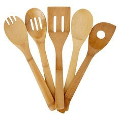 5 piece wooden Utensil set, any is fine Apartment Essentials, Kitchen Essentials, Apartment Ideas, Kitchen Tools And Gadgets, Kitchen Items, Kitchen Stuff, Kitchen Things, Fun Cooking, Cooking Tools