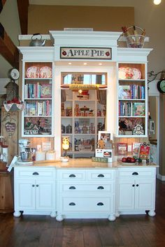 Very cool pantry and baking center - has a door at the side and a pass-thru window
