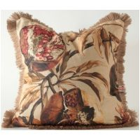 Pomegranate Tree w/ Jute Fringe Pillow
