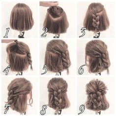 Messy Half up Braid Hairstyle for Short Hair | Makeup Mania