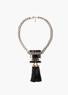 Tassel pendant necklace - Jewellery for Women | MANGO
