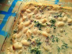 Zapekané gnocchi so syrovo-hubovou omáčkou - Recept