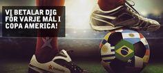 Copa America erbjudanden: bonus på 200 kr på oddset hos Betsafe