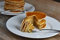 Gluten-free Pancakes (hold the xanthan gum) from Gluten Free on a Shoestring - sounds yummy!