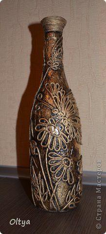Декор предметов Аппликация из скрученных жгутиков Бутылочки Бумага фото 15