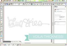 thickening the handwritten words - Kerri Bradford Studio