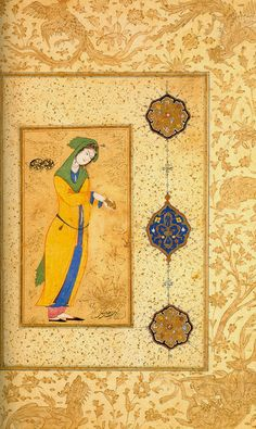 Woman with a Gold Purse, Reza Abbasi, mid 16th c.