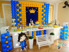 decoração pequeno principe moreno