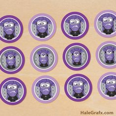 Having a Despicable Me themed party? Get my free printable evil minion cupcake toppers. These purple crazy haired minions will make your cupcakes despicable. Despicable Me Cupcakes, Despicable Me Party, Minion Cupcakes, Minions Despicable Me, Minion Party, Minion Theme, Minion Birthday, 5th Birthday, Birthday Ideas