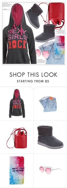 """""""I love hoodie"""" by duma-duma ❤ liked on Polyvore featuring Levi's and Mew."""