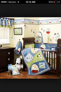 Snoopy nursery set