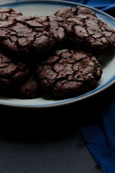 Salted Cinnamon and Ginger Double Chocolate Cookies
