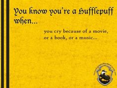 """Or a music""... lol! Anyways, yes, this is very true. I've been teased about this many times, by friends and family. I've cried during many movies, cried during quite a few books, and cried during many... um, musics. =)"