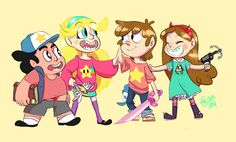 Gravity Falls X Steven Universe X Star Vs. The Forces Of Evil~!