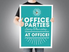 The Good Times don't need to wait until the weekend to begin! Office Parties, Good Times, Calm, Mood, Cover