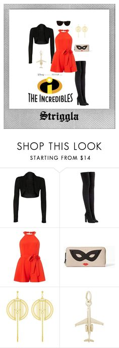 """""""Elastigirl"""" by striggla on Polyvore featuring Polaroid, WearAll, adidas Originals, Miss Selfridge, Kate Spade, Rembrandt Charms and Tiffany & Co."""