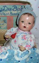 """RARE 1930s Dy-Dee WEE 9"""" w/Layette in BOX -- Adorable!!! - Effanbee"""