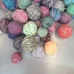 Super pretty yarn balls
