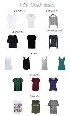 T-Shirt Closet Basics by thecapsuleproject on Polyvore featuring Pierre Balmain, Acne Studios, Chicwish, H&M, French Connection, Balmain, Isabel Marant, Vintage 55, WearAll and Vince